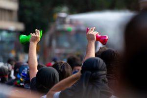 Chilean plebiscite protestors