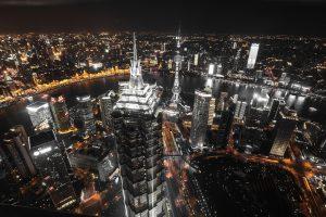 Shanghai nighttime cityscape