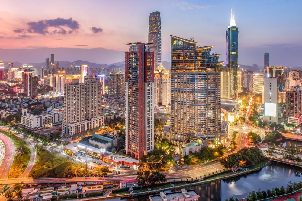 Shenzhen City Night Skyline